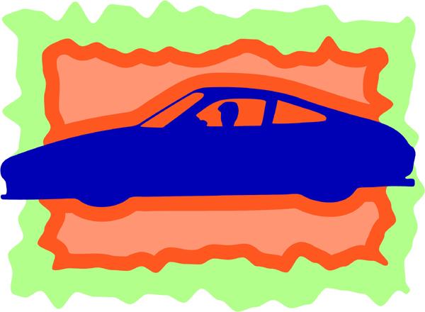 Classy car full color sports sticker. Personalize on line. AUTO_BOAT_3C_05
