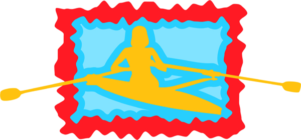 Rowboat full color action sports decal. Personalize on line. AUTO_BOAT_3C_21