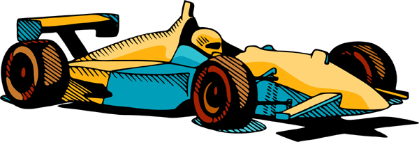 Race car full color action sports decal. Customize on line. AUTO_BOAT_4C_01