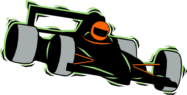 Car racer full color action sports decal. Personalize on line. AUTO_BOAT_4C_10