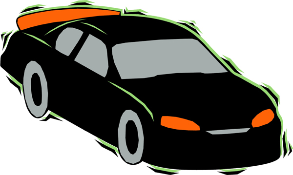 Sleek car sports sticker in full color. Personalize as you order. AUTO_BOAT_4C_11