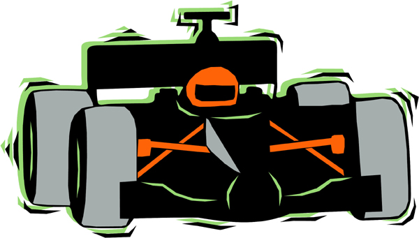 Race car and driver full color sticker. Make it personal! AUTO_BOAT_4C_12