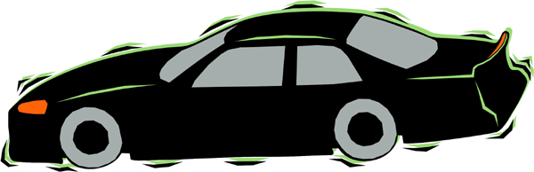 Classy car full color sports decal. Customize on line. AUTO_BOAT_4C_13