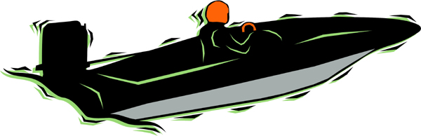 Motorboat color sports sticker. Customize on line. AUTO_BOAT_4C_17