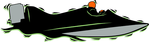 Speedboat full color action sports decal. Customize on line. AUTO_BOAT_4C_18