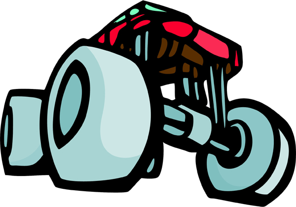 Monster truck full color sports decal. Personalize on line. AUTO_BOAT_5C_01