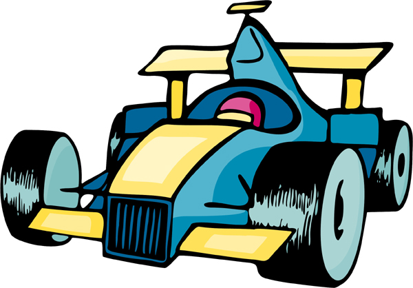 Race car full color sports decal. Customize on line. AUTO_BOAT_5C_10
