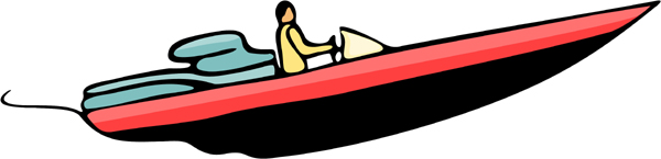 Speed boat full color sports sticker. Make it your own. AUTO_BOAT_5C_16