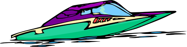 Speedboat full color action sports decal. Personalize on line. AUTO_BOAT_6C_06