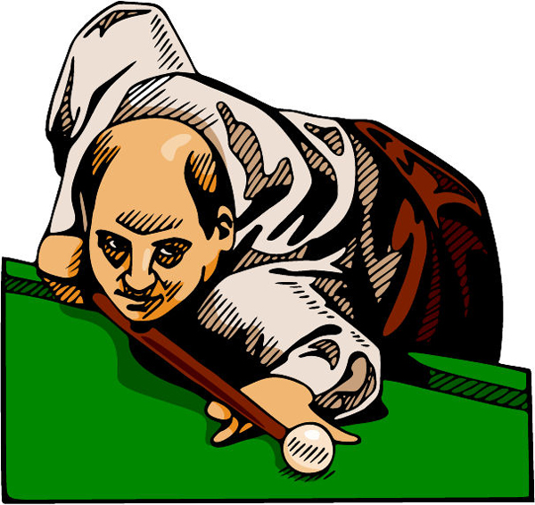 Pool player full color sports decal. Customize on line. POOLHALL_DARTS_4C_02