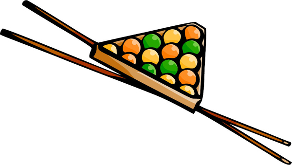 Pool balls and cue sticks full color sports action decal. Personalize on line. POOLHALL_DARTS_5C_02