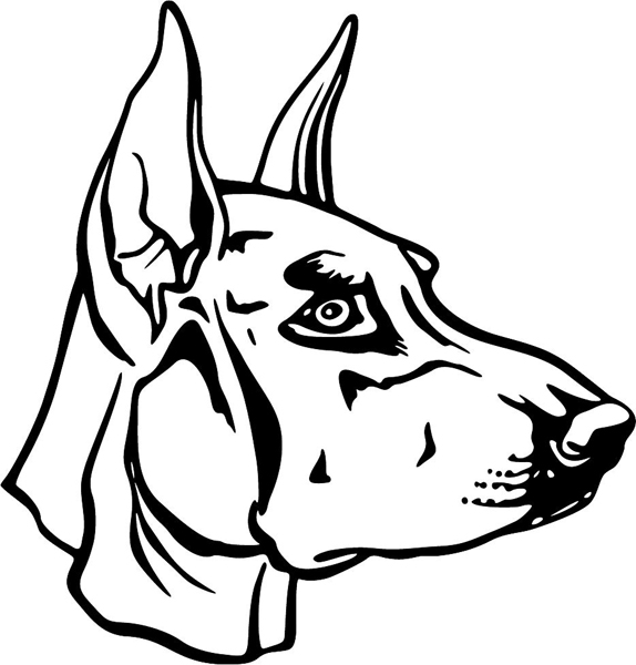 Doberman coloring pages for Doberman coloring pages