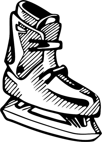 Ice skate sports decal. Personalize on line. SKATING_5BL_20