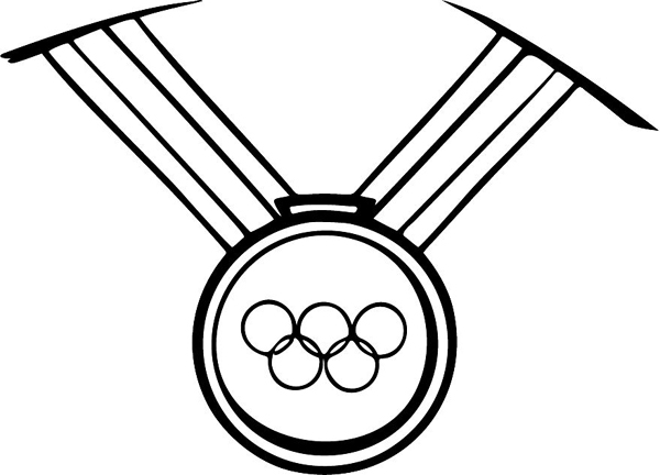 free olympic medal coloring pages Olympic Gold Medal Clip Art  Gold Medal Coloring Page