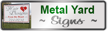 Custom Realty Metal Yard Signs
