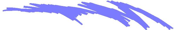 Scribble stripes vinyl sticker 3079