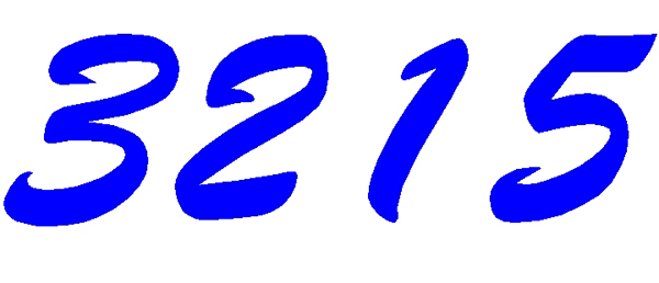 Numbers vinyl decal 3215