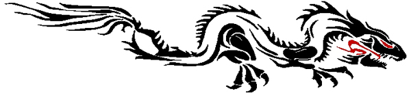 Dragging Dragon two color stripe vinyl decal. 3255
